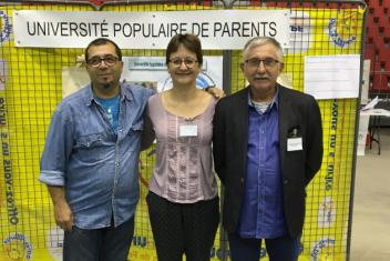 portrait des trois parents interviewés